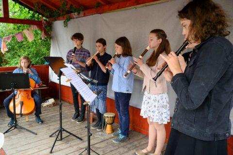 Zahradní slavnost - flétny